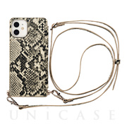 【iPhone12 mini ケース】Cross Body Case Animal Series for iPhone12 mini (python)