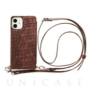 【iPhone12 mini ケース】Cross Body Case Animal Series for iPhone12 mini (crocodile)