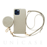 【iPhone12/12 Pro ケース】Cross Body Case Glitter Series for iPhone12/12 Pro (pearl silver)