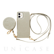 【iPhone12 mini ケース】Cross Body Case Glitter Series for iPhone12 mini (pearl silver)