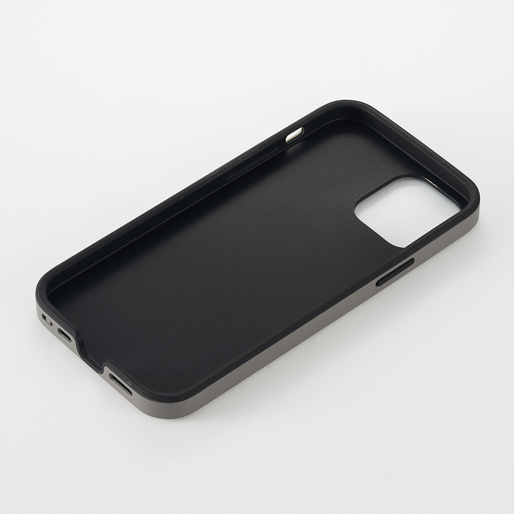 【iPhone12 mini ケース】Smooth Touch Hybrid Case for iPhone12 mini (black)サブ画像