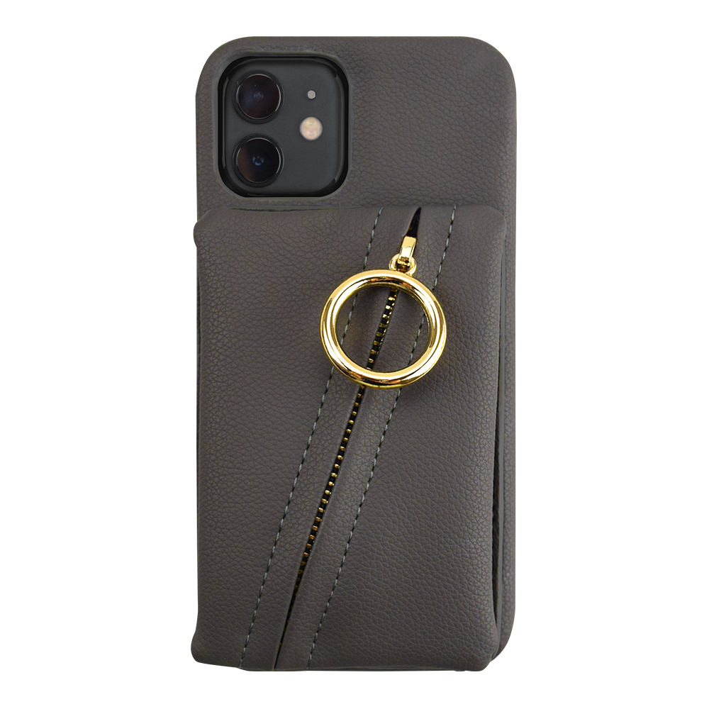 【iPhone12/12 Pro ケース】Clutch Ring Case for iPhone12/12 Pro (dark gray)サブ画像