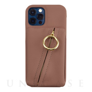 【iPhone12/12 Pro ケース】Clutch Ring Case for iPhone12/12 Pro (gray pink)