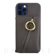【iPhone12/12 Pro ケース】Clutch Ring Case for iPhone12/12 Pro (dark gray)