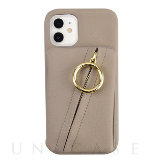 【iPhone12 mini ケース】Clutch Ring Case for iPhone12 mini (beige)