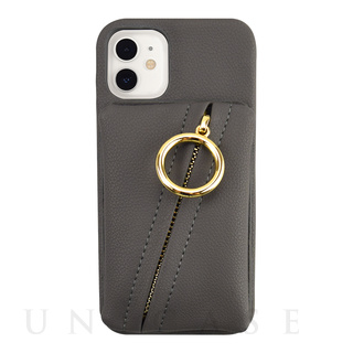 【iPhone12 mini ケース】Clutch Ring Case for iPhone12 mini (dark gray)