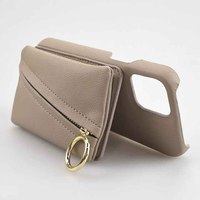 【iPhone12 mini ケース】Clutch Ring Case for iPhone12 mini (beige)サブ画像