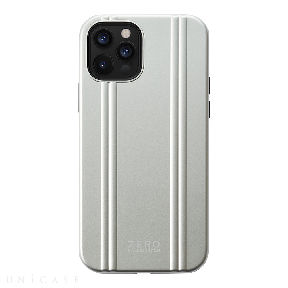 【iPhone12/12 Pro ケース】ZERO HALLIBURTON Hybrid Shockproof Case for iPhone12/12 Pro (Silver)