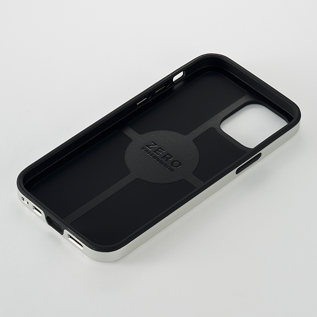 【iPhone12/12 Pro ケース】ZERO HALLIBURTON Hybrid Shockproof Case for iPhone12/12 Pro (Silver)サブ画像