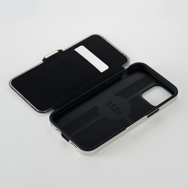 【iPhone12/12 Pro ケース】ZERO HALLIBURTON Hybrid Shockproof Flip Case for iPhone12/12 Pro (Blue)サブ画像