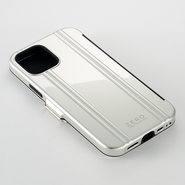 【iPhone12 mini ケース】ZERO HALLIBURTON Hybrid Shockproof Flip Case for iPhone12 mini (Silver)goods_nameサブ画像