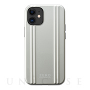【iPhone12 mini ケース】ZERO HALLIBURTON Hybrid Shockproof Case for iPhone12 mini (Silver)