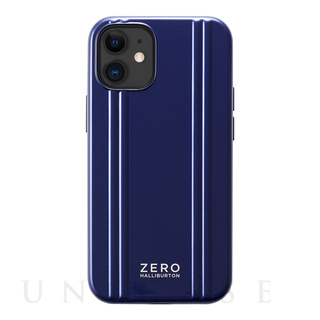 【iPhone12 mini ケース】ZERO HALLIBURTON Hybrid Shockproof Case for iPhone12 mini (Blue)