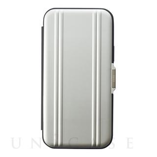 【iPhone12/12 Pro ケース】ZERO HALLIBURTON Hybrid Shockproof Flip Case for iPhone12/12 Pro (Silver)