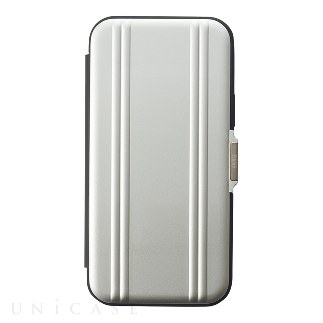 【iPhone12/12 Pro ケース】ZERO HALLIBURTON Hybrid Shockproof Flip Case for iPhone12/12 Pro (Silver)