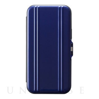 【iPhone12/12 Pro ケース】ZERO HALLIBURTON Hybrid Shockproof Flip Case for iPhone12/12 Pro (Blue)