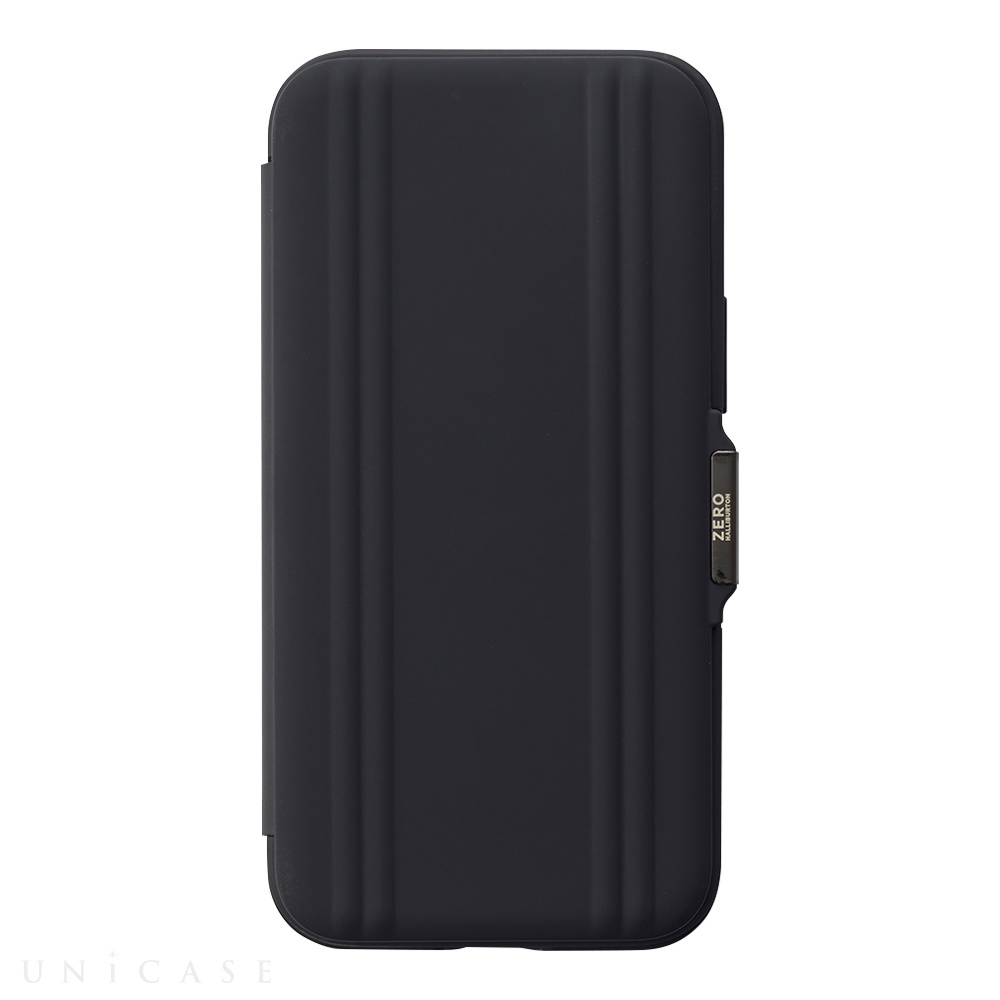 【iPhone12 mini ケース】ZERO HALLIBURTON Hybrid Shockproof Flip Case for iPhone12 mini (Black)
