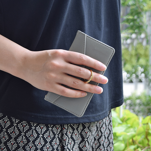 【iPhone12/12 Pro ケース】Letter Ring Flipcase for iPhone12/12 Pro (gray)サブ画像