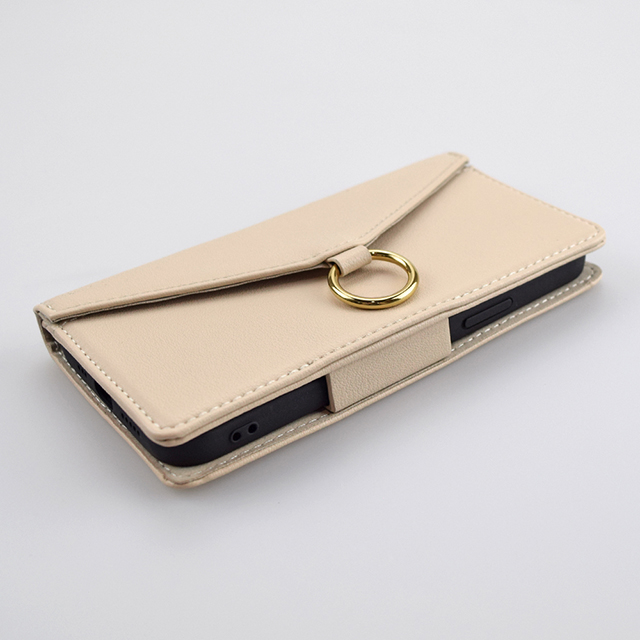 【iPhone12 mini ケース】Letter Ring Flipcase for iPhone12 mini (beige)サブ画像