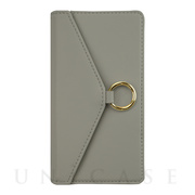 【iPhone12/12 Pro ケース】Letter Ring Flipcase for iPhone12/12 Pro (gray)