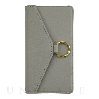 【iPhone12 mini ケース】Letter Ring Flipcase for iPhone12 mini (gray)