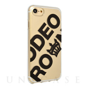 【iPhoneSE(第2世代)/8/7/6s/6 ケース】RODEO CROWNS TPUクリアケース (ビッグロゴ/黒)