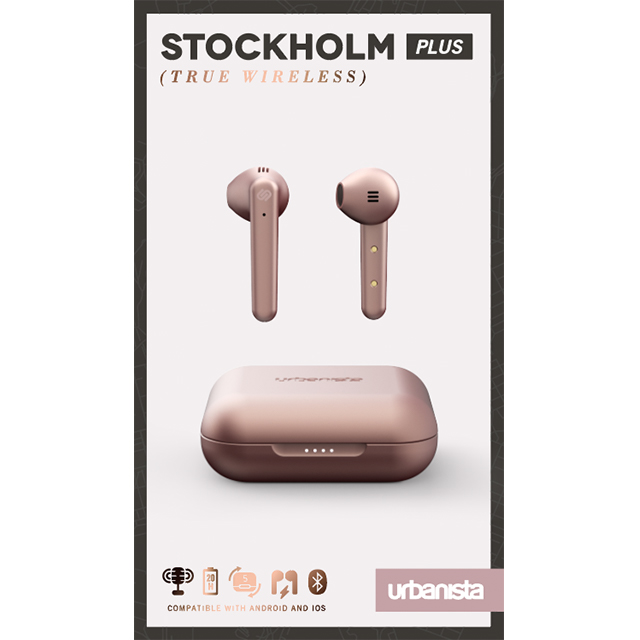 【完全ワイヤレスイヤホン】STOCKHOLM PLUS True Wireless (Rose Gold - Pink)