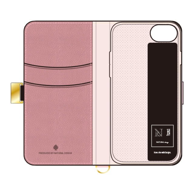 【iPhoneSE(第2世代)/8/7/6s/6 ケース】手帳型ケース Mary (Pink)