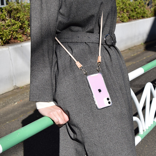 【iPhone12/12 Pro ケース】Shoulder Strap Case for iPhone12/12 Pro (greige)サブ画像