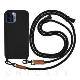【iPhone12/12 Pro ケース】Shoulder Strap Case for iPhone12/12 Pro (black)