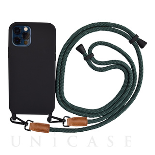 【iPhone12/12 Pro ケース】Shoulder Strap Case for iPhone12/12 Pro (green)