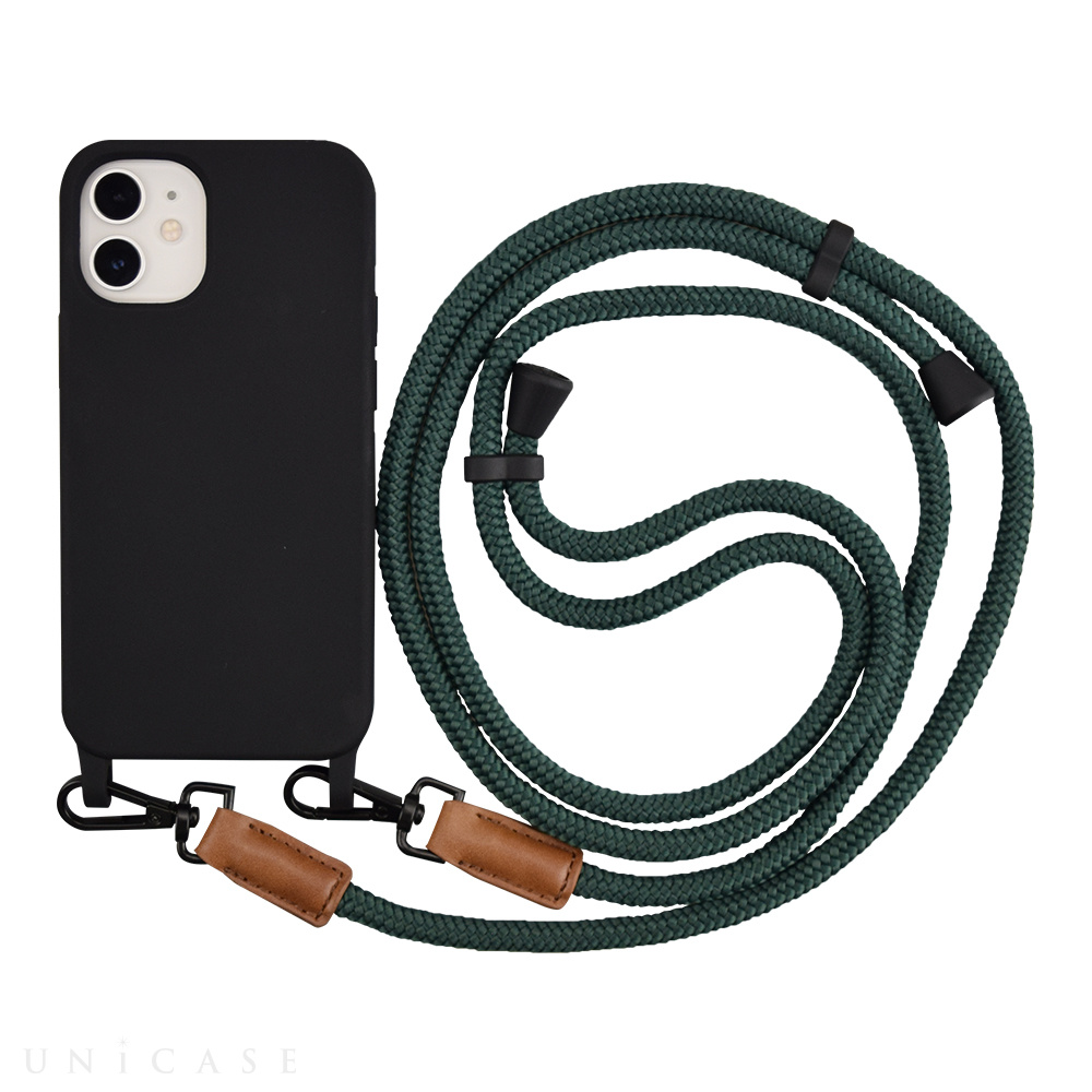 【iPhone12 mini ケース】Shoulder Strap Case for iPhone12 mini (green)