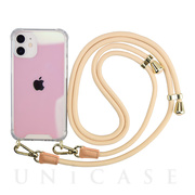 【iPhone12 mini ケース】Shoulder Strap Case for iPhone12 mini (ivory)