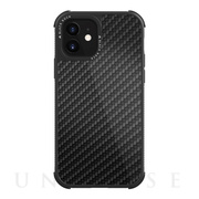 【iPhone12 mini ケース】Robust Case Real Carbon (Black)