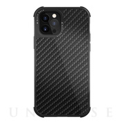 【iPhone12/12 Pro ケース】Robust Case Real Carbon (Black)