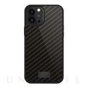 【iPhone12 Pro Max ケース】Protective Case Real Carbon (Black)