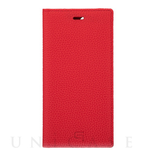 【iPhone12/12 Pro ケース】Shrunken-Calf Leather Book Case (Red)