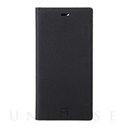 【iPhone12 Pro Max ケース】Shrunken-Calf Leather Book Case (Black)