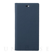 【iPhone12 Pro Max ケース】Shrunken-Calf Leather Book Case (Navy)