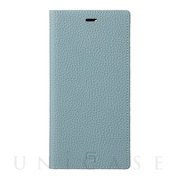【iPhone12 Pro Max ケース】Shrunken-Calf Leather Book Case (Baby Blue)