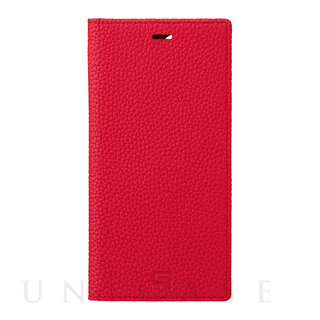 【iPhone12 Pro Max ケース】Shrunken-Calf Leather Book Case (Red)
