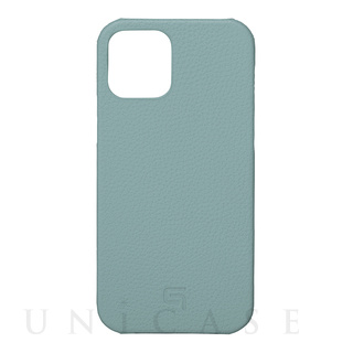 【iPhone12/12 Pro ケース】Shrunken-Calf Leather Shell Case (Baby Blue)