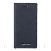 "【iPhone12 mini ケース】""EURO Passione"" PU Leather Book Case (Dark Navy)"