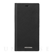 "【iPhone12 Pro Max ケース】""EURO Passione"" PU Leather Book Case (Black)"