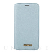 "【iPhone12/12 Pro ケース】""Shrink"" PU Leather Book Case (Light Blue)"