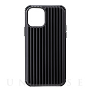"【iPhone12/12 Pro ケース】""Rib-Slide"" Hybrid Shell Case (Black)"