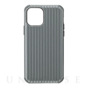 "【iPhone12/12 Pro ケース】""Rib-Slide"" Hybrid Shell Case (Gray)"