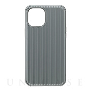 "【iPhone12 Pro Max ケース】""Rib-Slide"" Hybrid Shell Case (Gray)"