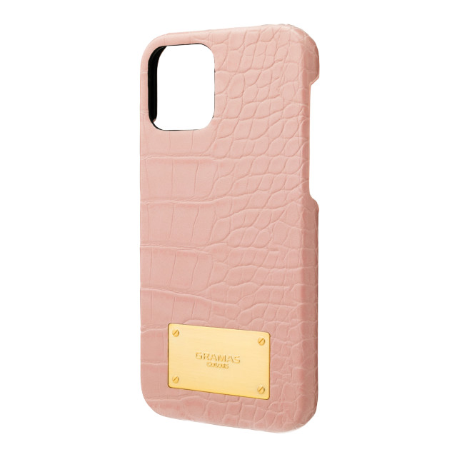 【iPhone12/12 Pro ケース】Croco Embossed PU Leather Shell Case (Beige Pink)サブ画像