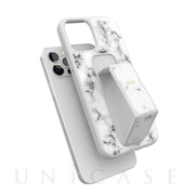 【iPhone12/12 Pro ケース】Gripcase Marble (White Marble)